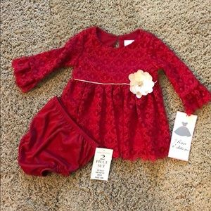 Rare Editions red dress